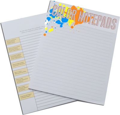 Custom Notepads Colour Printing